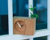 Hand made Wooden Desk Clock- Juglans mandshurica wood
