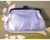 Leather purse, silver wallet, old fashioned purse,retro purse, silver clutch, small leather purse,romantic purse,leather wallet.