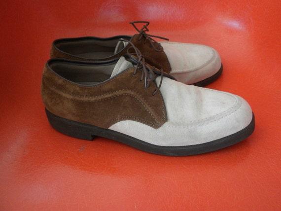 Mens Vintage Shoes Hush Puppies Brown Amp Beige Laceup