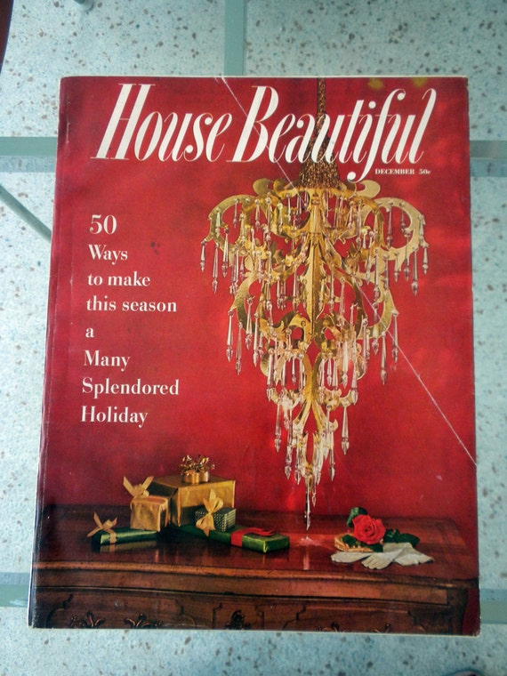 House Beautiful / December 1956  / 208 pages / Christmas Issue / Sascha Brastoff Advertisement