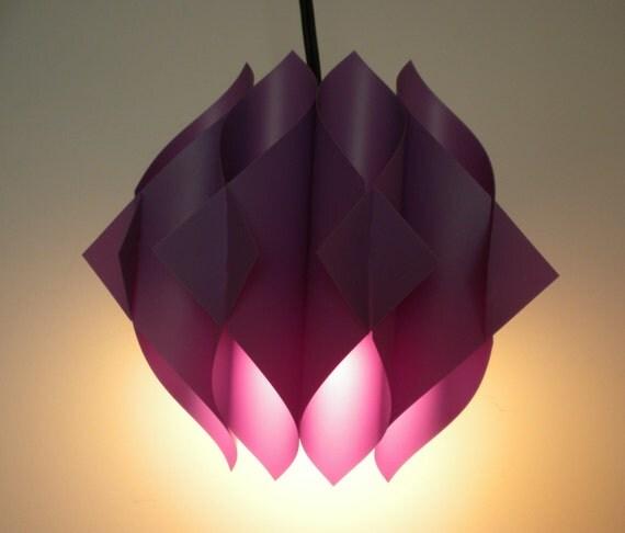 70s PURPLE Butterfly Lights / Set of 3 Small Lights / Lars Schioler for Hoyrup / Danish Modern Design / Dansk Lights /NOS