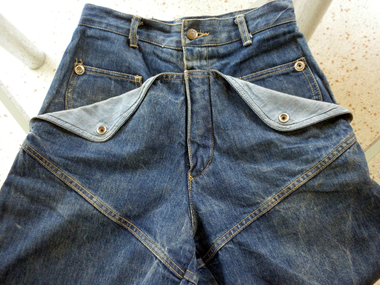 1983 Guess Stone Washed Jeans Engineered Pockets By Luxurylife