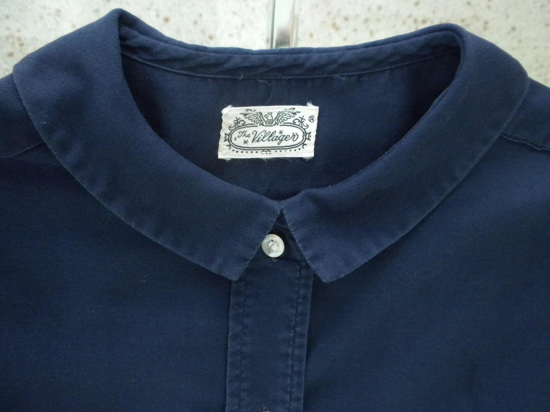 Vintage Preppy Blouse Shirt The Villager 1960s Navy