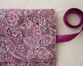 Crochet Hook Organizer Case Rose Paisley Fabric