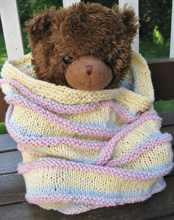 Cotton Baby Cocoon Blanket Yellow Pink Blue