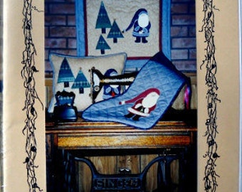 S. Claus quilt, pillow and stocking pattern by North Woods Quilt Designs