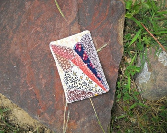 ACEO Mini Quilt Collectible, Love Fan