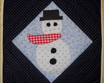 Frosty Quilted Trivet Pattern by Curlicue Creations