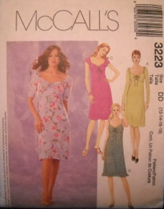 McCall's 3223 Empire Style Dress Pattern