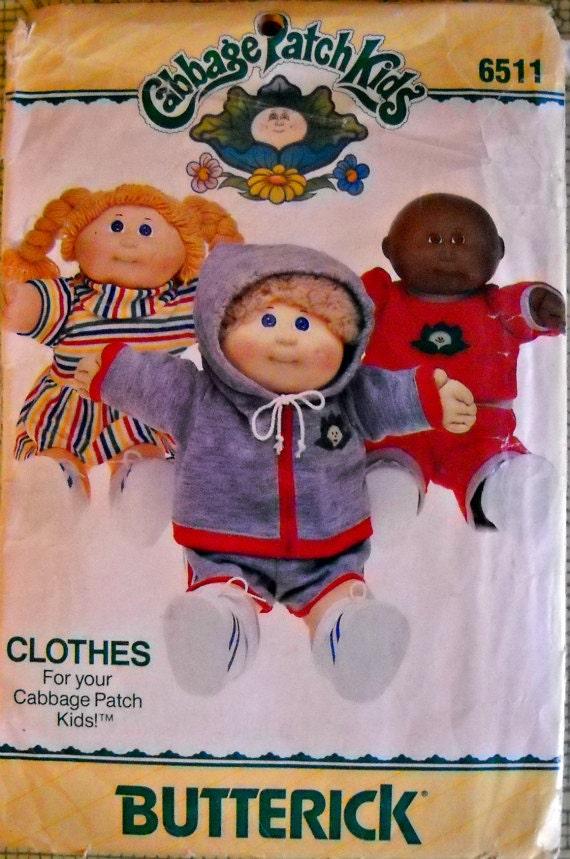 Butterick 6511 Cabbage Patch Kids Clothing Pattern, Vintage 1984