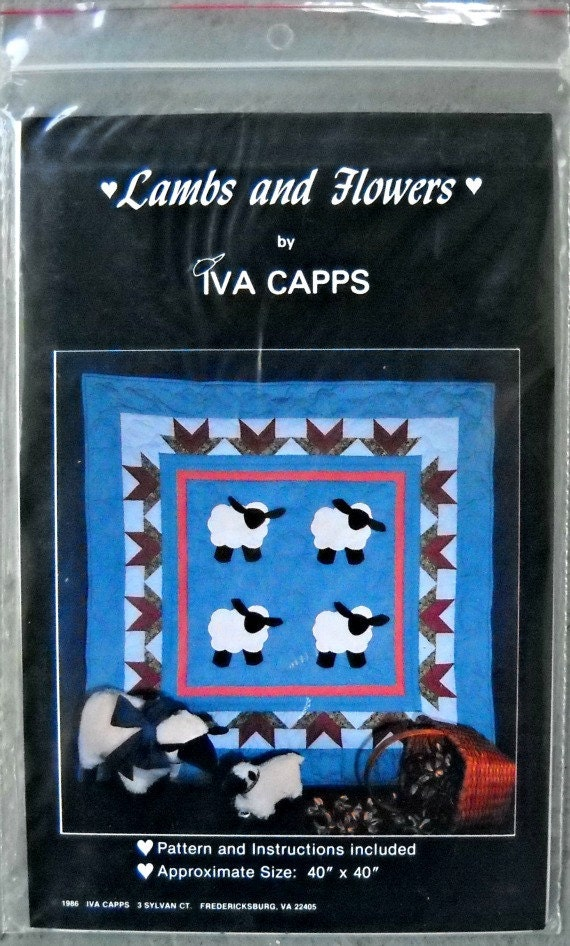Lambs and Flowers quilt pattern by Iva Capps