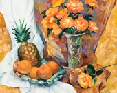 "Still Life with Pineapple 16""x16"" Luster Paper Giclee Print"