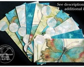 LAMINATED Cash Envelope System in Blue Butterfly (10 envelopes)