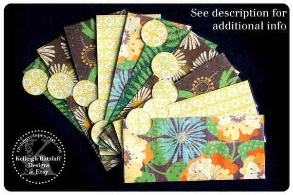 LAMINATED Cash Envelope System in Tropical Yellow (10 envelopes)
