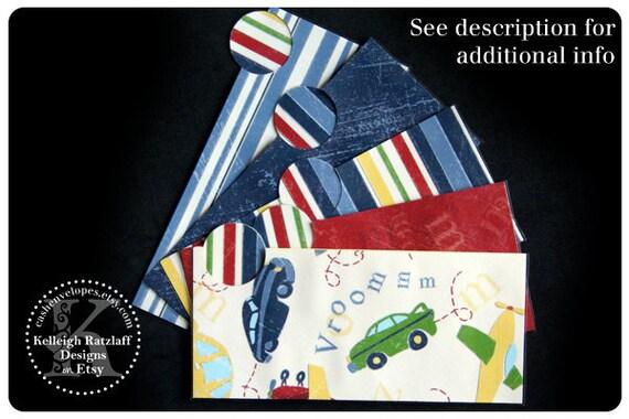 LAMINATED Cash Envelope System in Vroomm (5 envelopes)