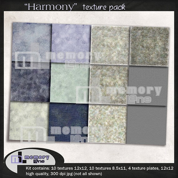 Textures for photographers and digital scrapbookers: Harmony texture pack