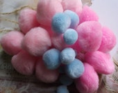 Cotton Candy Pink & Blue Pom Poms    (Perfect for making garland)