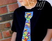 Superman Superhero tie shirt for adults and children- Fathers Day gift, Birthday gift.