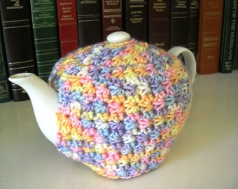 Crochet Teapot Cozy - Multi-Color Handmade Crochet Tea Cozy - Pastel Tea Pot Cozie