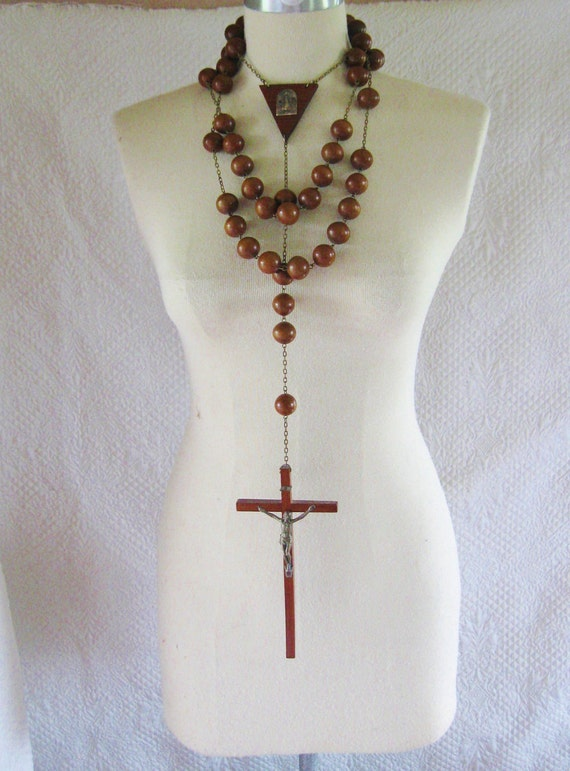 huge wooden rosary