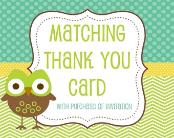 Thank You Card with Purchase of Invitation