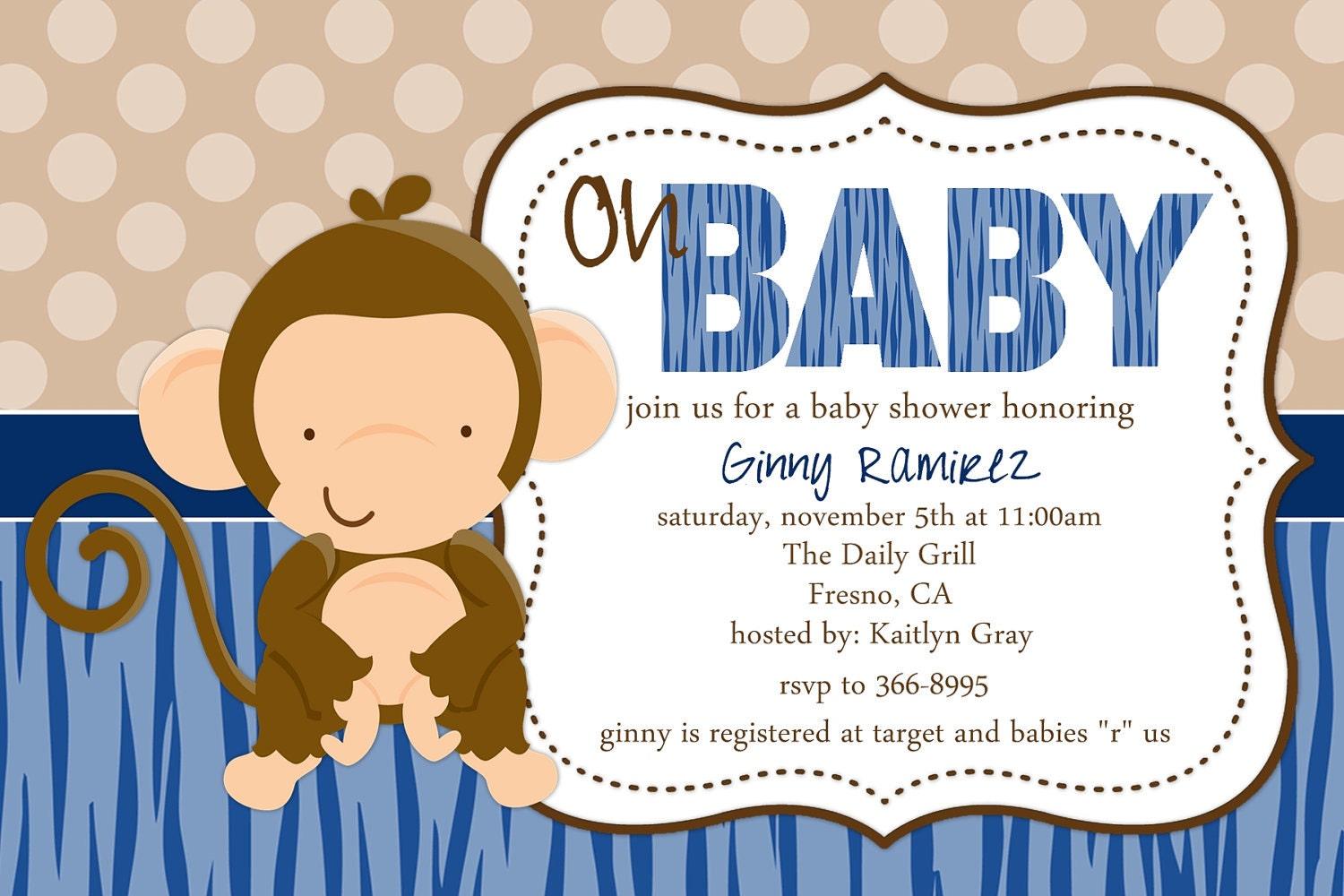 Baby Shower Monkey Invitations absolutely amazing ideas for your invitation example