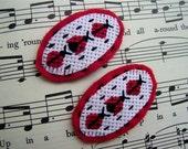 Girls Cross Stitch Ladybug Hair Clip Set, Taylor