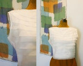 1950s party top / 50s blouse / The Audrey