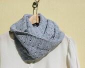 "Light blue cowl - vegan crochet infinity - Cotton - dusty  light blue - Coupon ""SPECIAL"" - 15% OFF"
