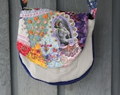 Victorian Rose Crazy Quilted OOAK Purse