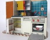 1960's Vintage metal kitchen combination