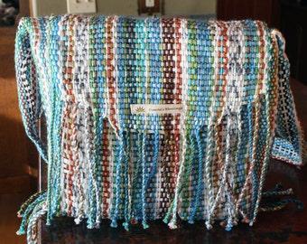 Upcycled Woven Fringe Purse - Peruvian Print Dawnes Weavings
