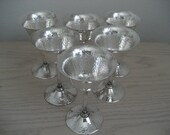 Bernard Rice and Sons Apollo Silverplate Hand Hammered Goblets 3995