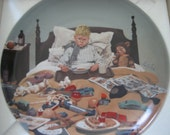 Vintage Collectors Plate by Kurt Ard Bored Sick From Moments of Truth