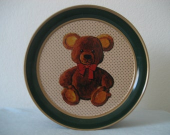 Vintage Parco Foods Bear Tin 1985