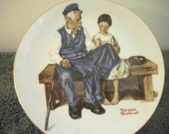 Vintage Norman Rockwell Collector Plate The Lighthouse Keepers Daughter