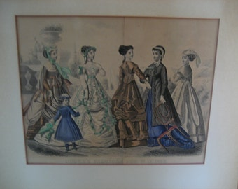 Godey's Fashions For May 1868 Kimmel and Forster