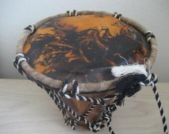 Vintage Handmade Drum Hand Painted Drum Head