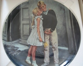 Vintage Collectors Plate by Kurt Ard First Crush From Moments of Truth