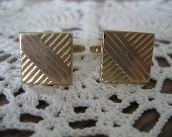 Vintage Hickok Cufflinks Goldtone