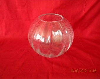 Vintage Tiffany Round Crystal Candle Holder Dome