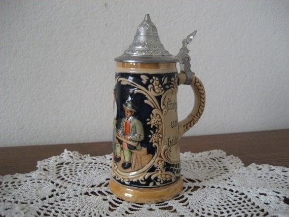 Vintage Miniature German Stein