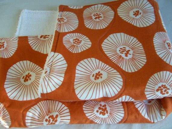 Orange Dish Mat / Kitchen Drying Towel in Echo by Lotta Jansdotter/  Great Mothers Day Gift