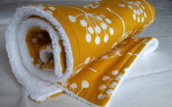 Deep Yellow Dish Mat / Drying Towel/ Dish Drainer in Echo by Lotta Jansdotter/ Christmas Gift Idea for Women