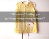 Reserved listing for cottonetcshoppe - Snow White baby girl dress&Snow white thank top