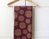 Fabric 100% cotton, quilting weight, plum sunflower, Sonoma by Franchelle Contreras for Henry Glass. 1 Yard.
