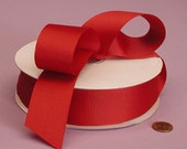 Solid Grosgrain Ribbon  5/8 Inch ..... Red ... 3 YARDS