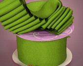 Lime  Grosgrain Ribbon 3/8  Inch   ..... 5 Yards