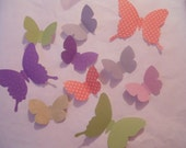Custom order a  whirl of whimsical  paper butterflies in lilac, green and white 3 D wall art nursery decor childrens room