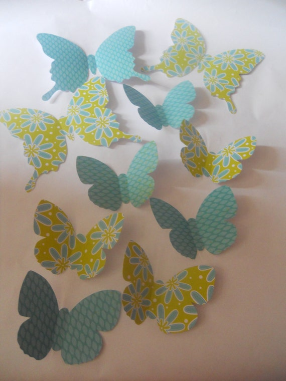 Custom order a  whirl of whimsical  paper butterflies 3 D wall art nursery decor childrens room